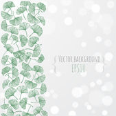 Floral background with gingko biloba leaves — ストックベクタ