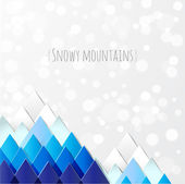Snowy mountains. — Stock Vector