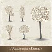 Hand drawn trees. — Stock Vector