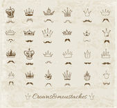 Sketch crowns collection. — Vettoriale Stock