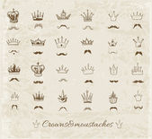 Sketch crowns collection. — Stock Vector