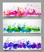 Set of abstract backgrounds. — Stock Vector