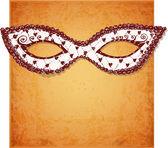 Cartão com máscara veneziana festiva. — Vetor de Stock
