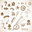 Sketch of web design icons — Stock Vector