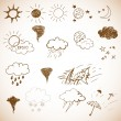 Stock Vector: Weather icons set.
