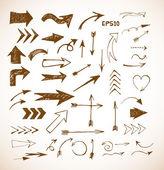 Sketch arrow collection — ストックベクタ