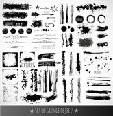 Ink grunge objects for design — Stock Vector