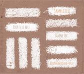 Conjunto de banderas de tiza doodle dibujados a mano — Vector de stock