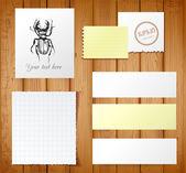 Conjunto de vetor de objetos de papel — Vetorial Stock