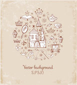 Card with princess' accessories — Vetorial Stock