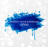 Grunge background with bright blue splash. — ストックベクタ