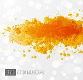 Splash amarelo sobre fundo branco. — Vetorial Stock