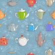 Background with teapots. — Stock Vector #46943741