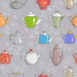 Background with teapots. — Stock Vector #46943769