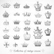 Collection of crowns — Stock Vector #47838573