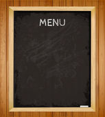 Menu chalkboard — Stock Vector