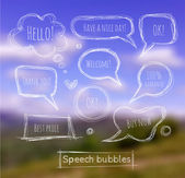 набор речи пузыри — Cтоковый вектор