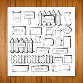 Sketch rustic backgrounds — Stock Vector