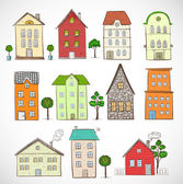 Sketches of houses. — ストックベクタ