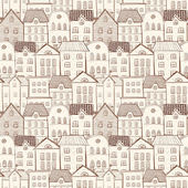 Background with city and lots of houses — Stockvector