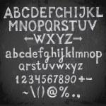 Font on blackboard — Stock Vector