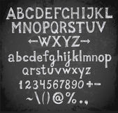 Font on blackboard — Stockvector