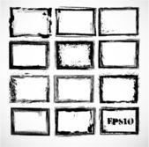Set of grunge frames — Stock Vector