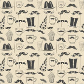 Mustache party seamless background — Vecteur