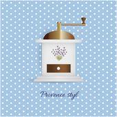 Coffee grinder — Stock Vector