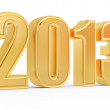 3d golden 2013 number — Stock Photo