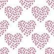 Seamless pattern with hearts composed of twigs — Stock Vector