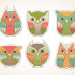 Colorful owls — Stock Vector #29543391