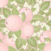 винтаж бесшовный фон с яблоками — Cтоковый вектор