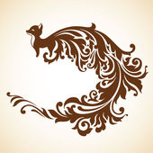 Ornamental decorative fox — Stock Vector