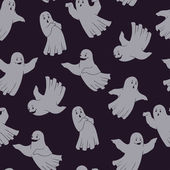 Seamless pattern with ghosts — Stock Vector