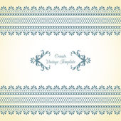 Vintage template with ornament — Stock Vector