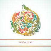 与鸟的装饰背景 — 图库矢量图片