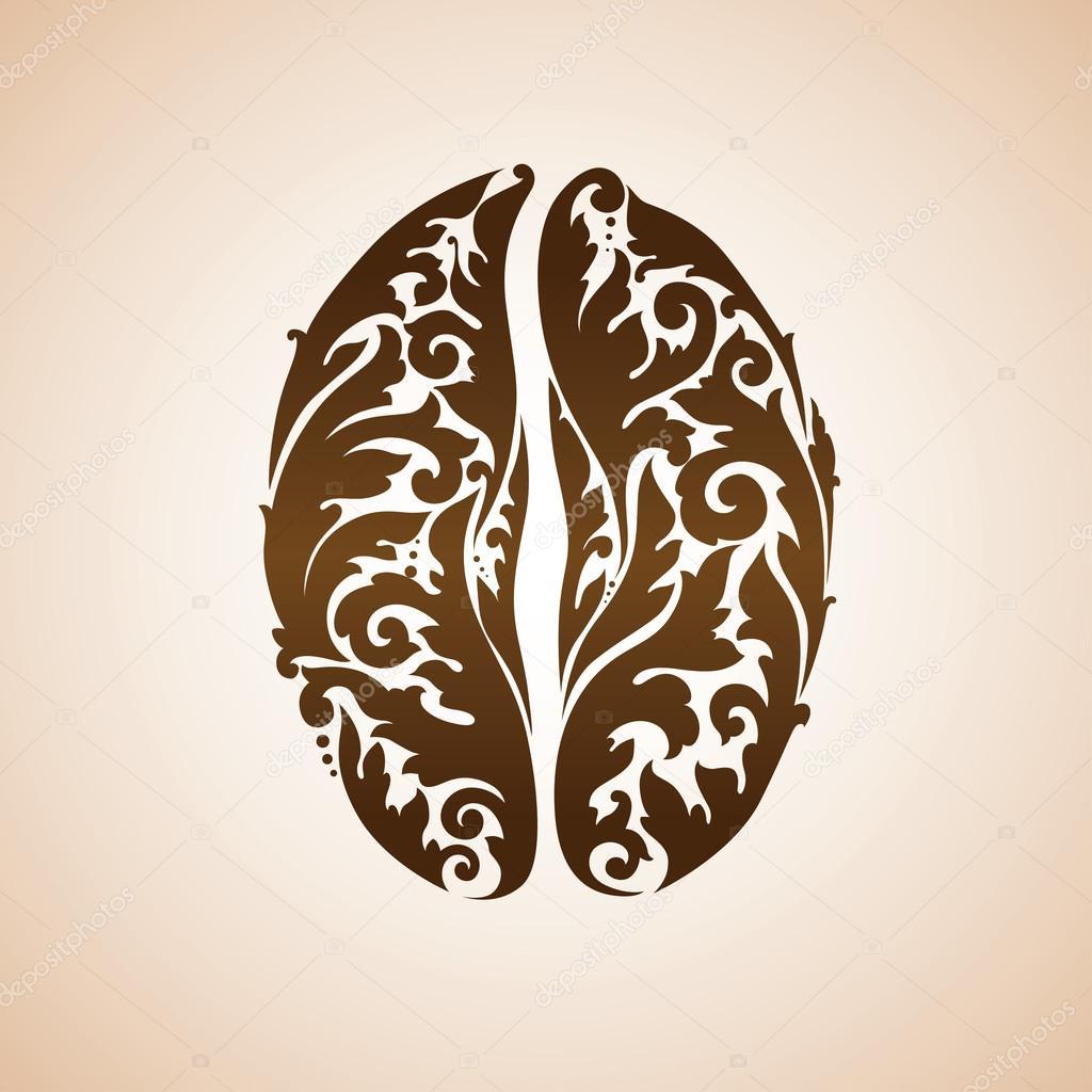 Ornamental decorative coffee bean — Stock Vector © misTery