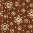 Vintage seamless pattern with snowflakes — Stock Vector #34812761