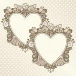 Two heart frames — Stock Vector #34812121