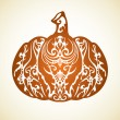 Ornamental decorative pumpkin — Stock Vector
