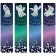 Bookmarks with ghosts — Stock Vector