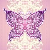 Decoratieve vlinder — Stockvector