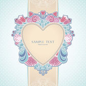 Hearts and abstract decorative frame — Vetorial Stock