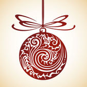 Decorative Christmas ball — Stock Vector