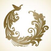 Ornamental decorative bird — Stock Vector