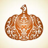 Ornamental decorative pumpkin — Stock Vector