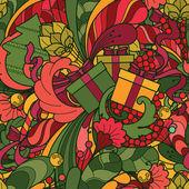 Sömlös vektor jul mönster — Stockvektor