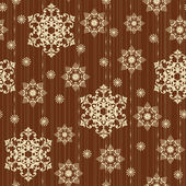 Vintage seamless pattern with snowflakes — Wektor stockowy