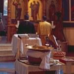 obřad křtu dítěte — Stock fotografie